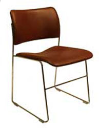 The Patriot-Leather Stacking Chair