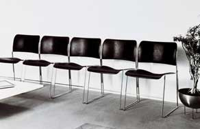 Classic Metal Stacking Chairs